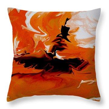 Caught In The Storm Throw Pillow by Indira Mukherji