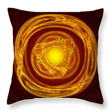 Celtic Abstract On Red Throw Pillow