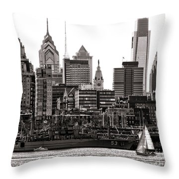 Center City Philadelphia Throw Pillow by Olivier Le Queinec