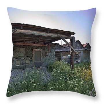 2 Chairs Throw Pillow