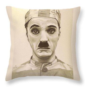 Vintage Charlie Chaplin Throw Pillow