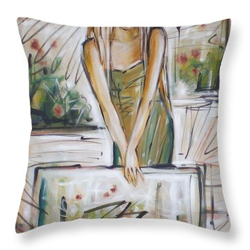 Throw Pillow featuring the painting Cheeky Bugger 260309 by Selena Boron