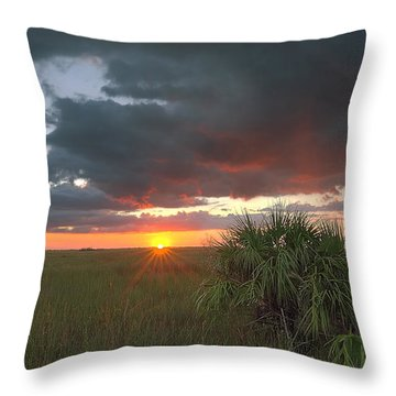 Chekili Sunset Throw Pillow