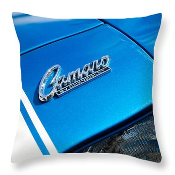 Chevrolet Camaro Emblem Throw Pillow by Jill Reger