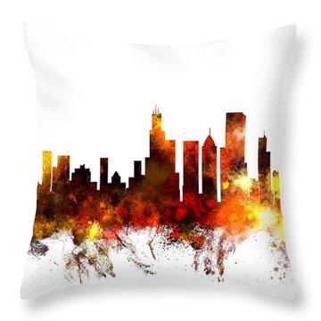 Chicago Skyline Throw Pillows