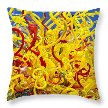 Chihuly Glass Throw Pillow