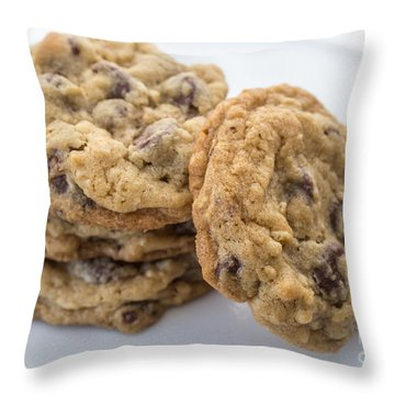 Chocolate Chip Cookies Throw Pillow by Edward Fielding