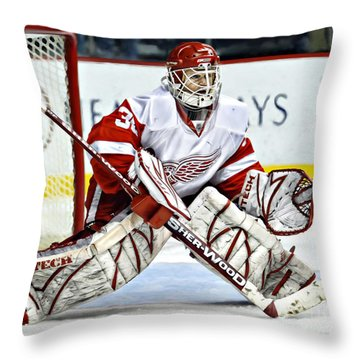 Chris Osgood Throw Pillow by Don Olea