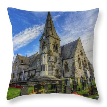 Christ Church Throw Pillow by Ian Mitchell