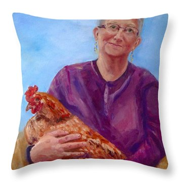 Cinnamon Queens Throw Pillow