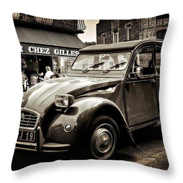 Citroen 2cv / Meyssac Throw Pillow