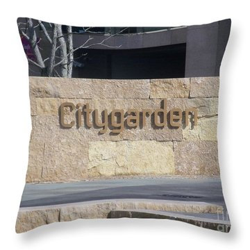 Throw Pillow featuring the photograph City Garden by Kelly Awad