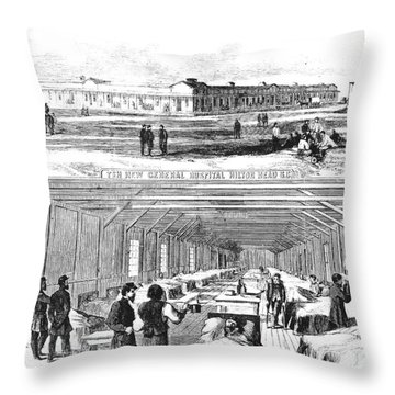 Civil War Hospital Throw Pillow by Granger