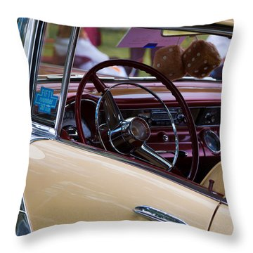 Classic American Car Throw Pillow by Mick Flynn