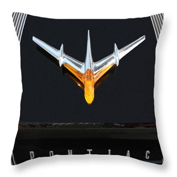 Classic Pontiac Hood Ornament Throw Pillow
