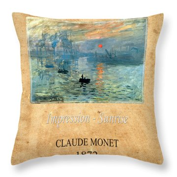Claude Monet 2 Throw Pillow by Andrew Fare