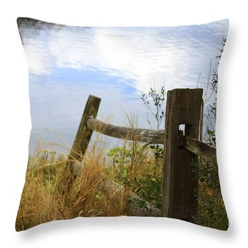 Cloud Reflections Throw Pillow by Deborah Benoit