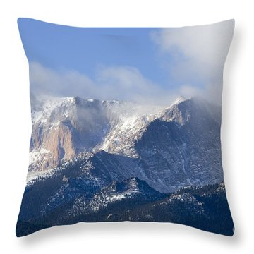 Cloudy Peak Throw Pillow