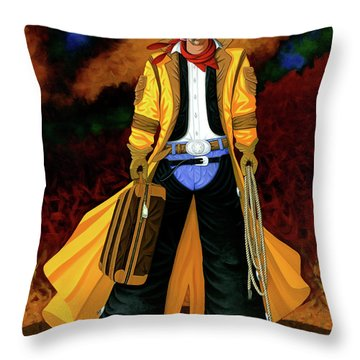 Clyde Throw Pillow by Lance Headlee