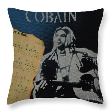 Cobain Spray Art Throw Pillow