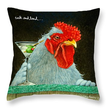 Cock And Load... Throw Pillow