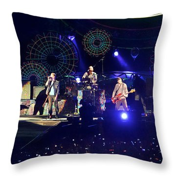 Coldplay - Sydney 2012 Throw Pillow