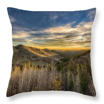 Colorado Sunrise Throw Pillow