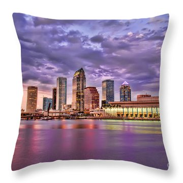 Colorful Night Lights Throw Pillow