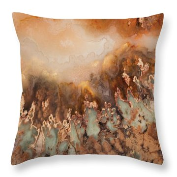 Colorful Plume Agate Throw Pillow by Leland D Howard