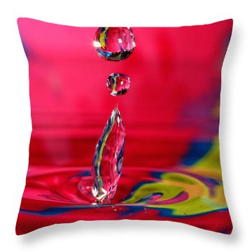 Colorful Water Drop Throw Pillow