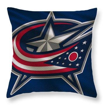 Columbus Blue Jackets Uniform Throw Pillow