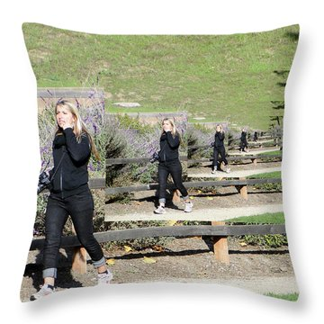 Throw Pillow featuring the photograph Concern by Nick David
