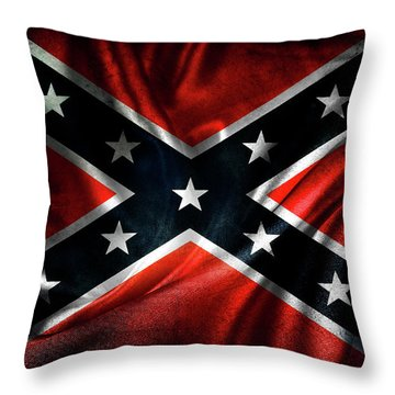 Confederate Flag 1 Throw Pillow