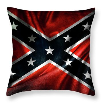 Confederate Flag Throw Pillow