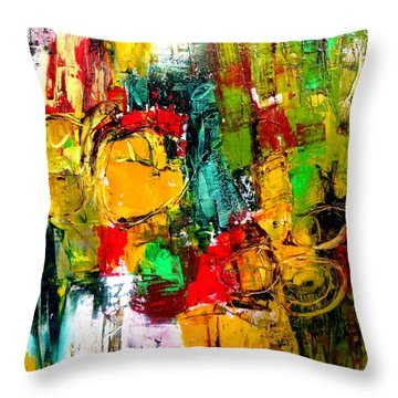 Throw Pillow featuring the painting Connected by Katie Black
