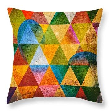 Contemporary Throw Pillow by Mark Ashkenazi