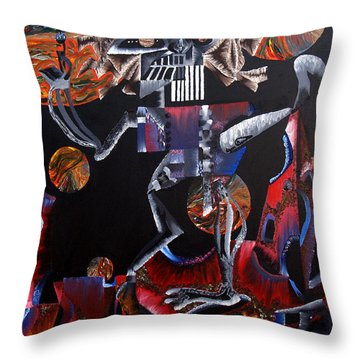 Copernicasso Throw Pillow by Ryan Demaree
