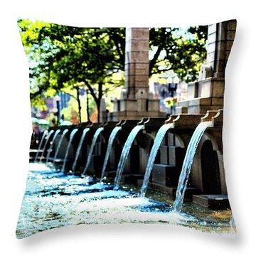 Copley Square Fountain In Boston Throw Pillow