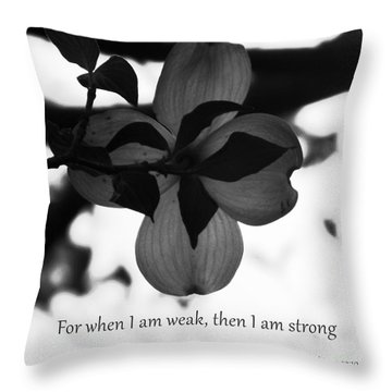 2 Corinthians 12 Throw Pillow by Andrea Anderegg