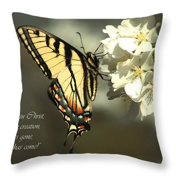 Throw Pillow featuring the photograph 2 Corinthians 5 17 by Emanuel Tanjala