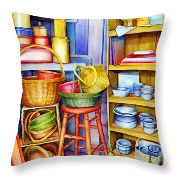 Corner Of Time Throw Pillow
