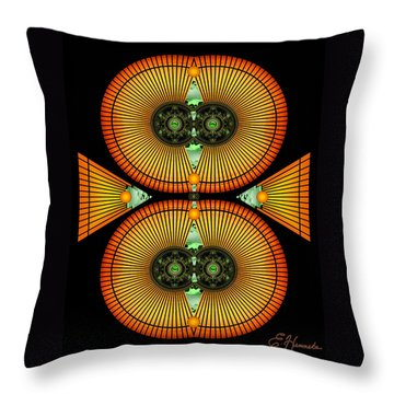Cosmic Mitosis Throw Pillow by Ellen Henneke