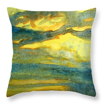 Crack The Sky Iv Throw Pillow