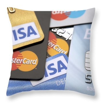 Debits And Credits Throw Pillows