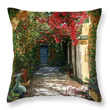 Crimson Canopy Throw Pillow by Doug Kreuger