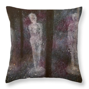 Throw Pillow featuring the painting Cross The Time by Min Zou