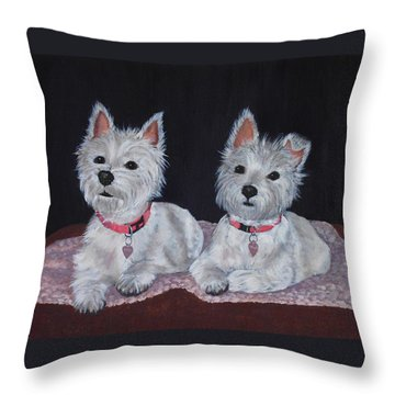 2 Cute Throw Pillow