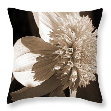 Dahlia Named Platinum Blonde Throw Pillow by J McCombie
