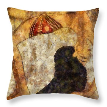 dancer of ancient Egypt Throw Pillow
