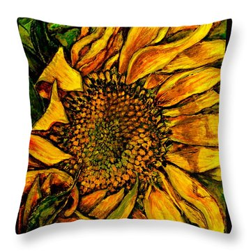 Dancing In The Sun Throw Pillow by Linda Simon